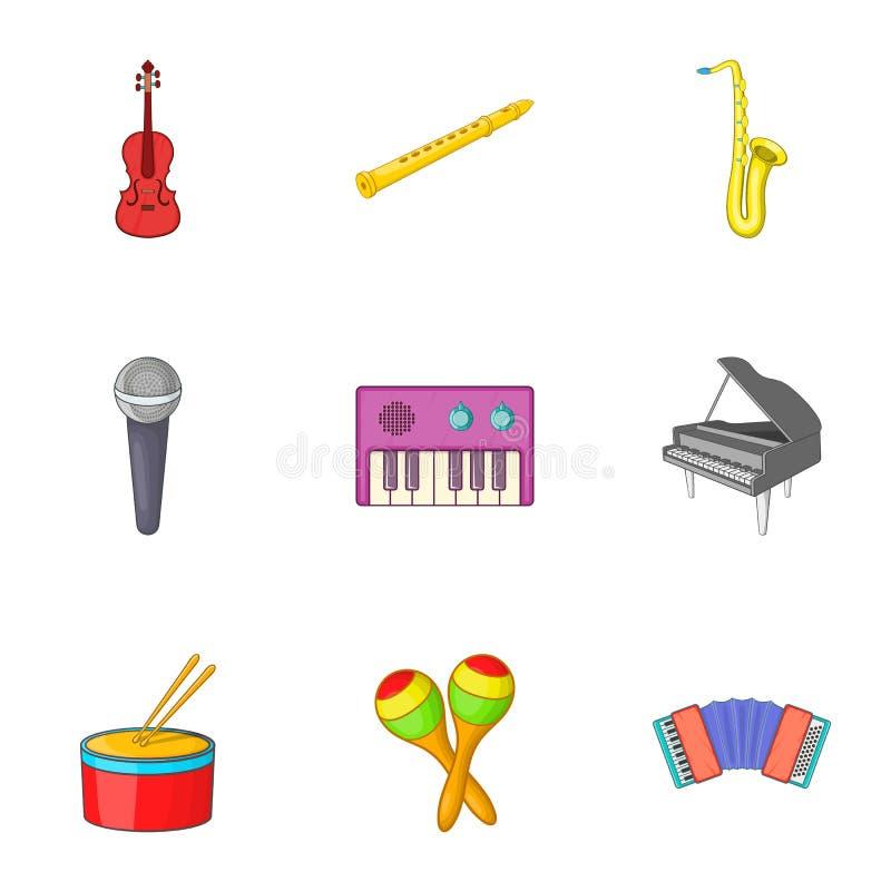 Download Ícones Musicais Ajustados, Estilo Do Dispositivo Dos Desenhos Animados Ilustração do Vetor - Ilustração de desenho, arte: 80100587