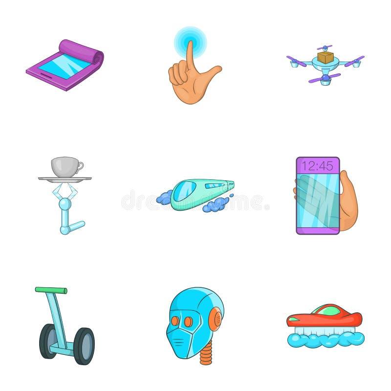 Download Ícones Novos Ajustados, Estilo Da Característica Dos Desenhos Animados Ilustração do Vetor - Ilustração de sinal, zangão: 80101120