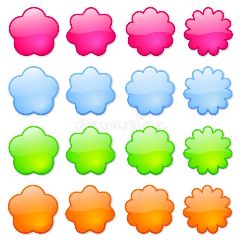 Ícones ou teclas coloridas fotos de stock royalty free