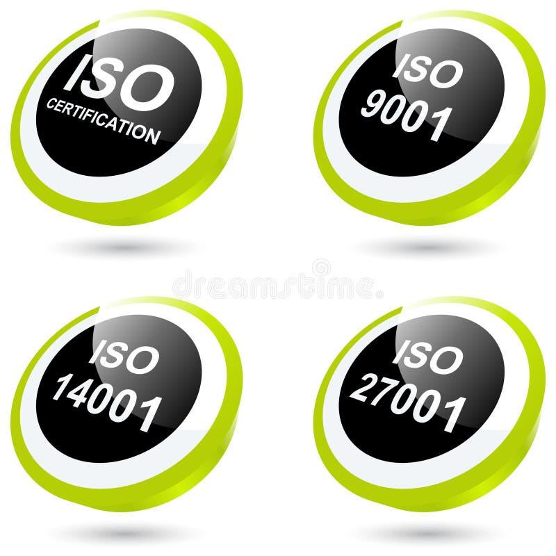 Ícones ou teclas do ISO ilustração royalty free