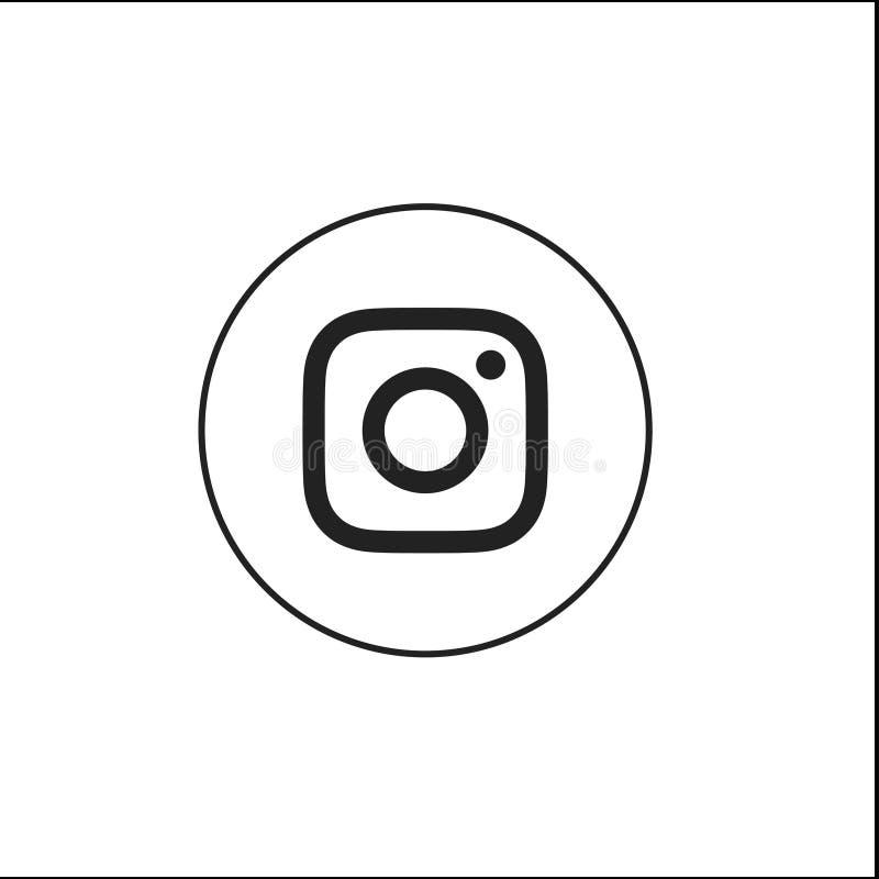 Ícones para a ilustração social do vetor dos trabalhos em rede em liso - vetor ilustração stock