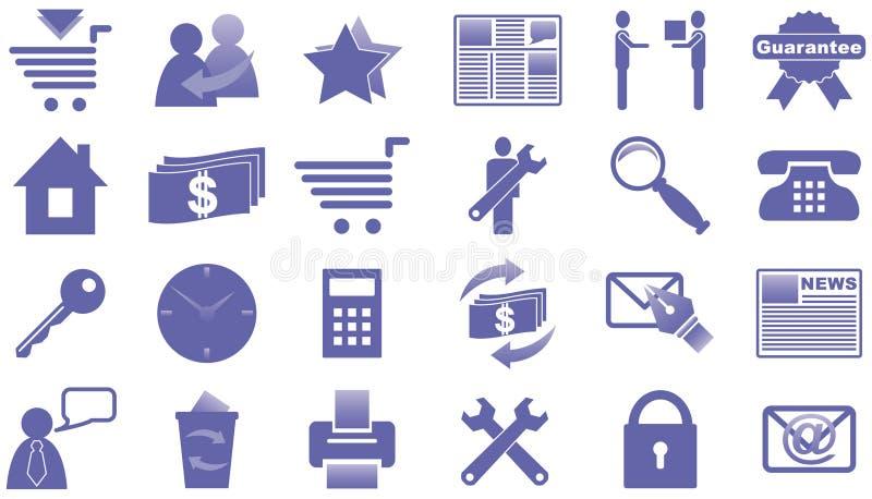 Ícones para o Internet e o Web site. ilustração stock