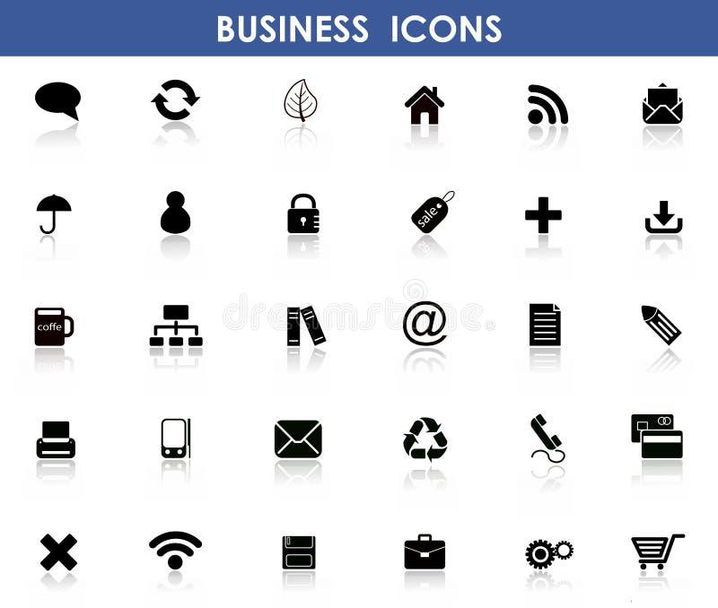 Ícones para o negócio foto de stock