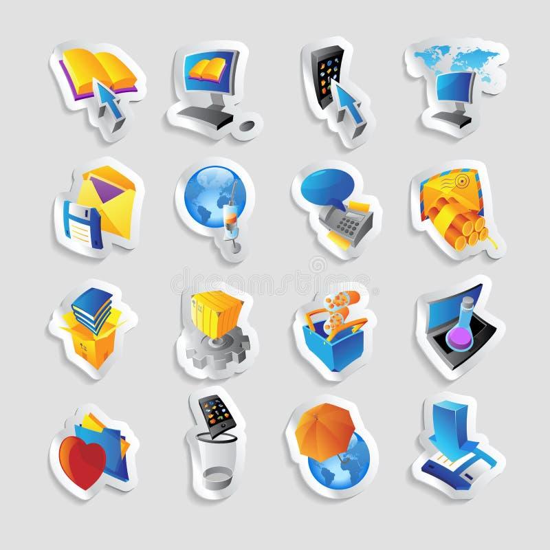 Ícones para a tecnologia e a relação ilustração royalty free