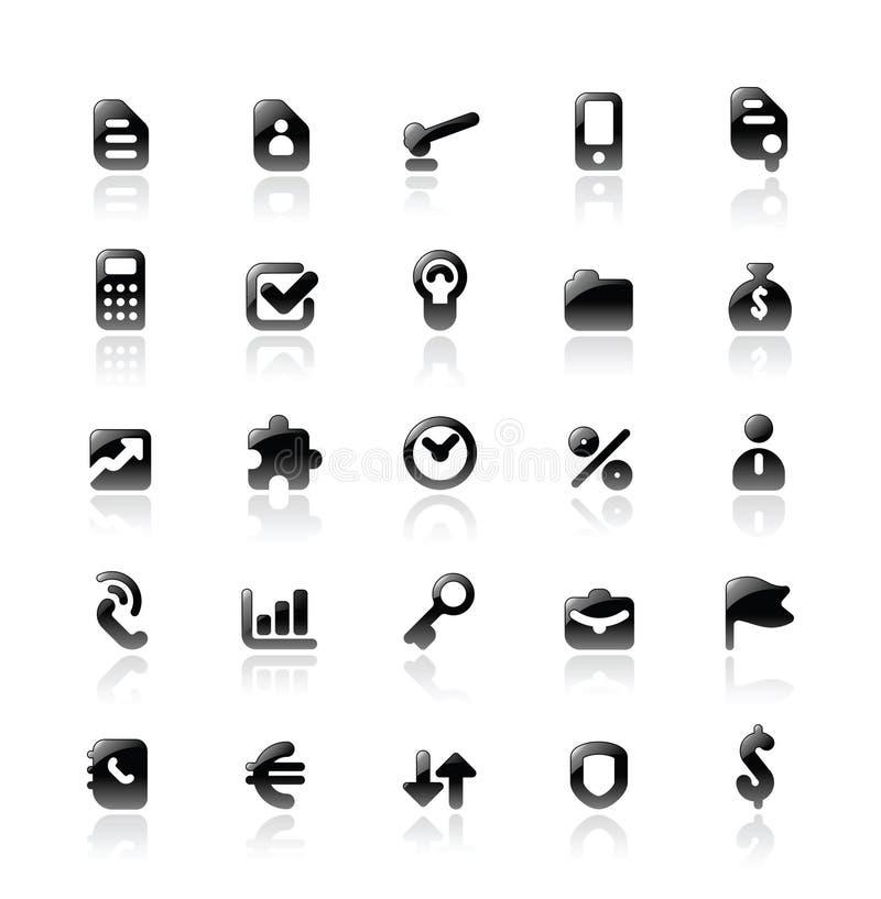 Ícones perfeitos para a metáfora do negócio ilustração royalty free