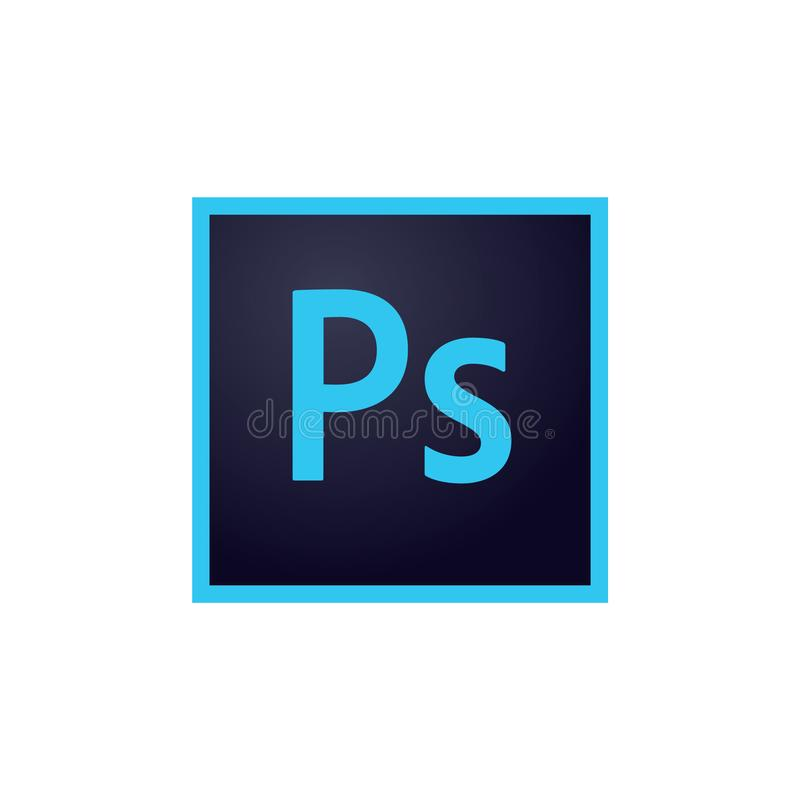Ícones Photoshop de Adobe, ilustrador e vetor editorial de Indesign ilustração royalty free
