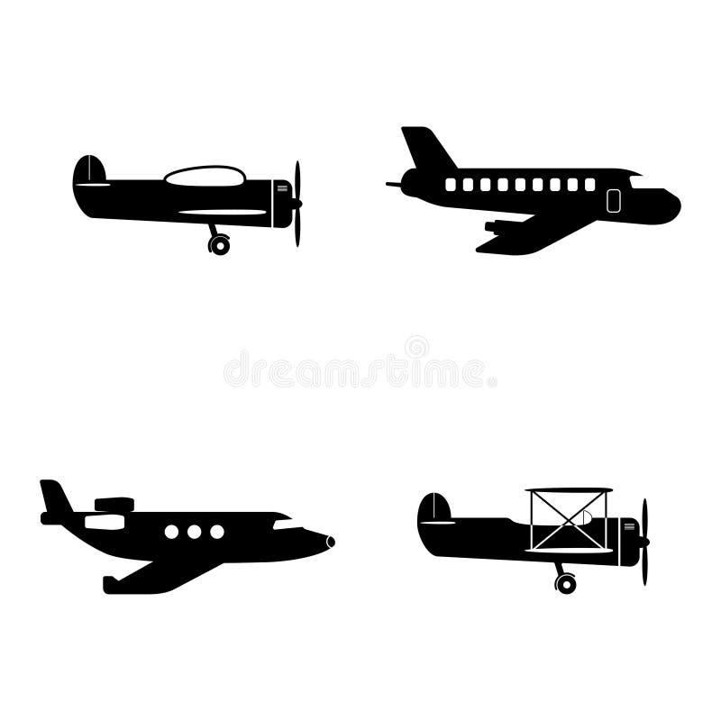 Ícones planos ajustados ilustração royalty free