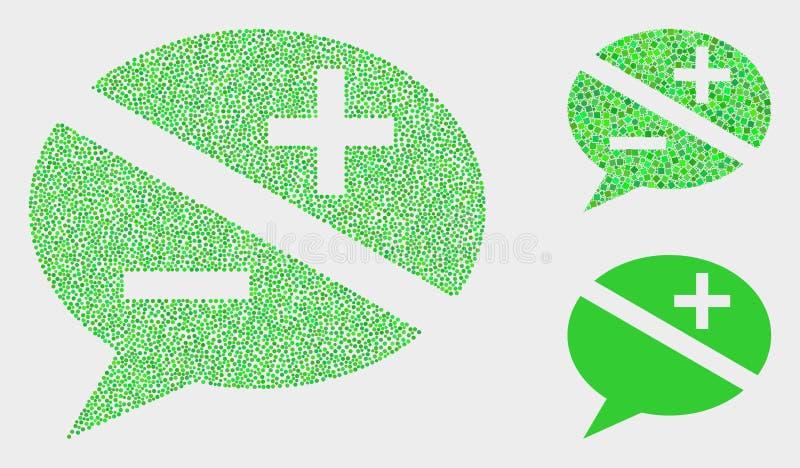 Ícones pontilhados das mensagens da discussão do vetor ilustração royalty free