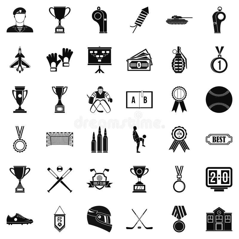 Ícones premiados extra ajustados, estilo simples ilustração stock