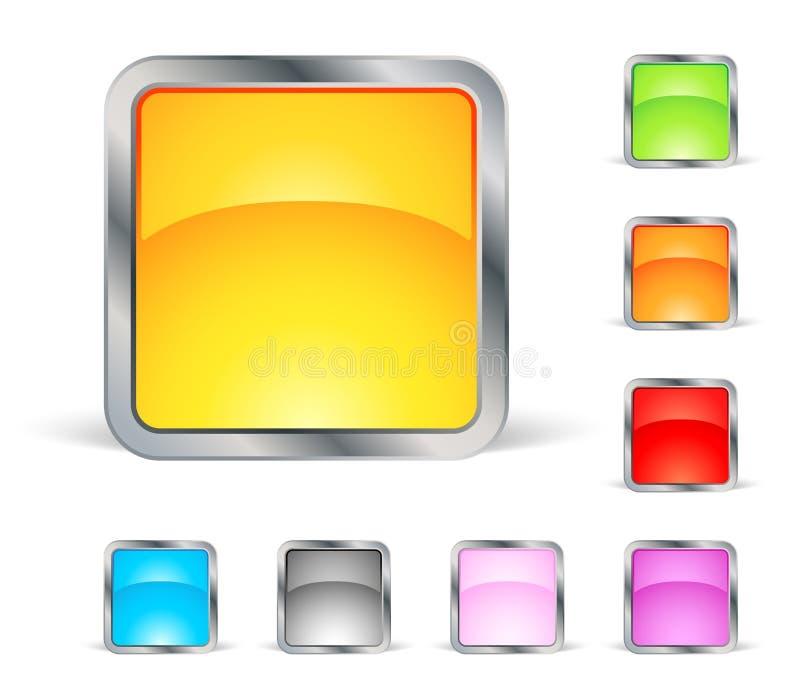 Ícones quadrados ilustração royalty free
