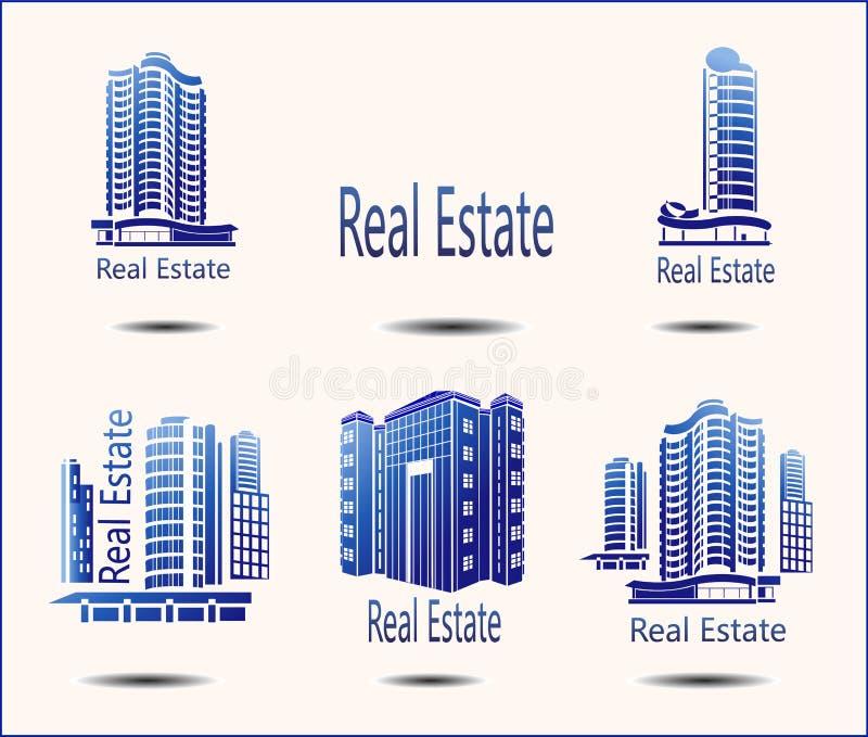 ícones Real Estate ilustração royalty free