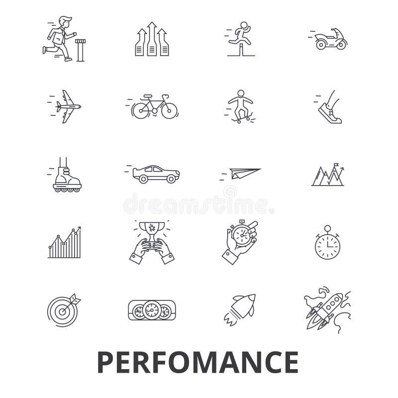 Ícones relacionados do desempenho ilustração royalty free