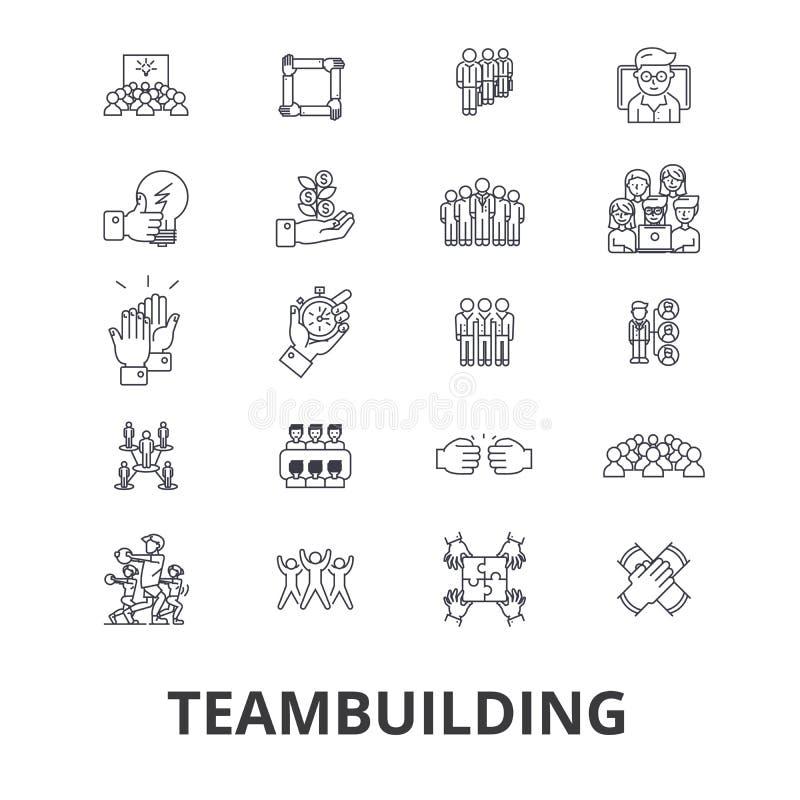 Ícones relacionados do desenvolvimento de equipas ilustração royalty free