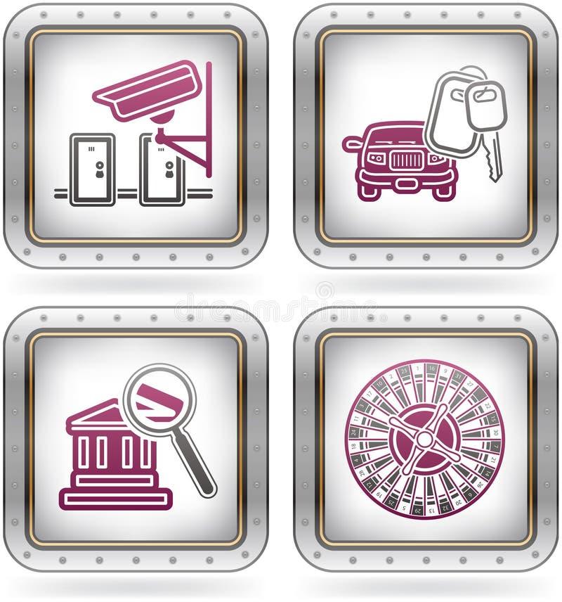 Ícones relacionados do hotel ilustração do vetor