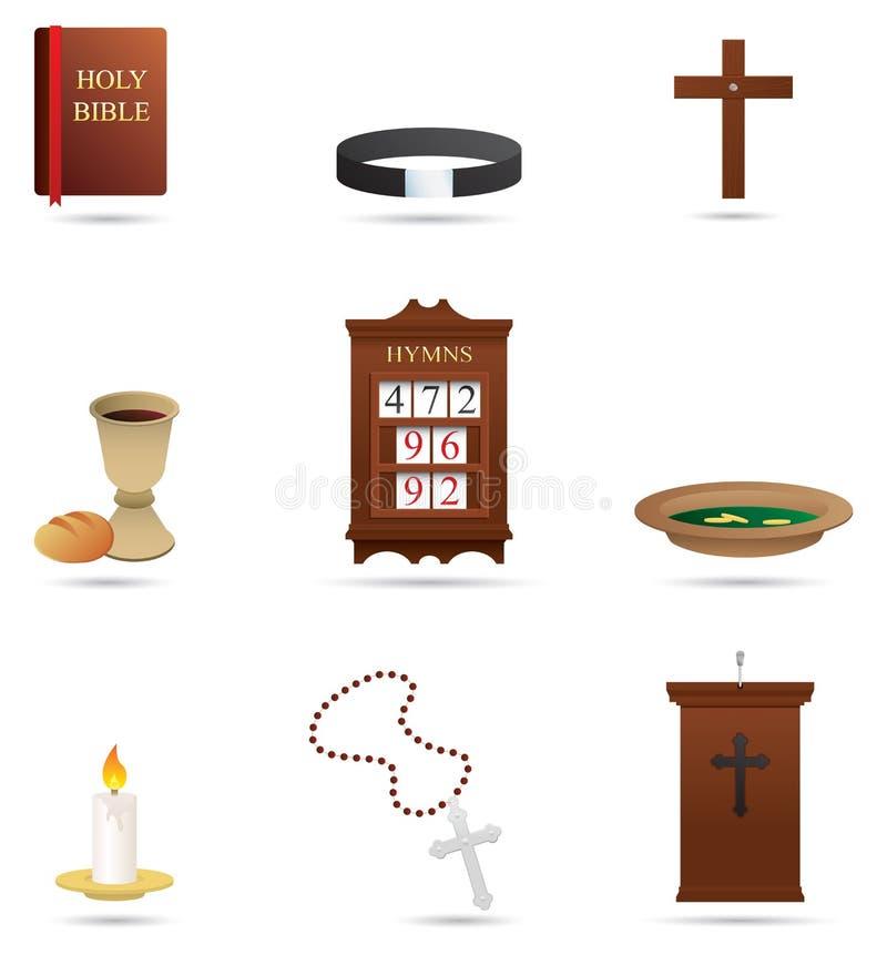 Ícones religiosos cristãos imagem de stock royalty free