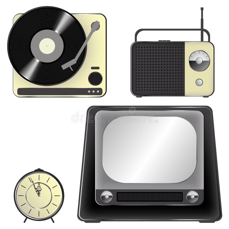 Ícones retros do objeto - jogo