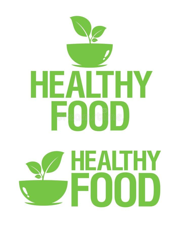 Ícones saudáveis do alimento. ilustração do vetor