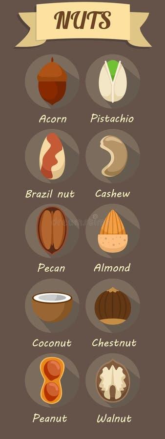 Ícones saudáveis lisos do alimento biológico ajustados ilustração stock