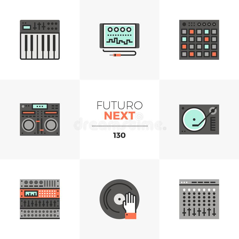 Ícones seguintes de Futuro do estúdio sadio ilustração stock