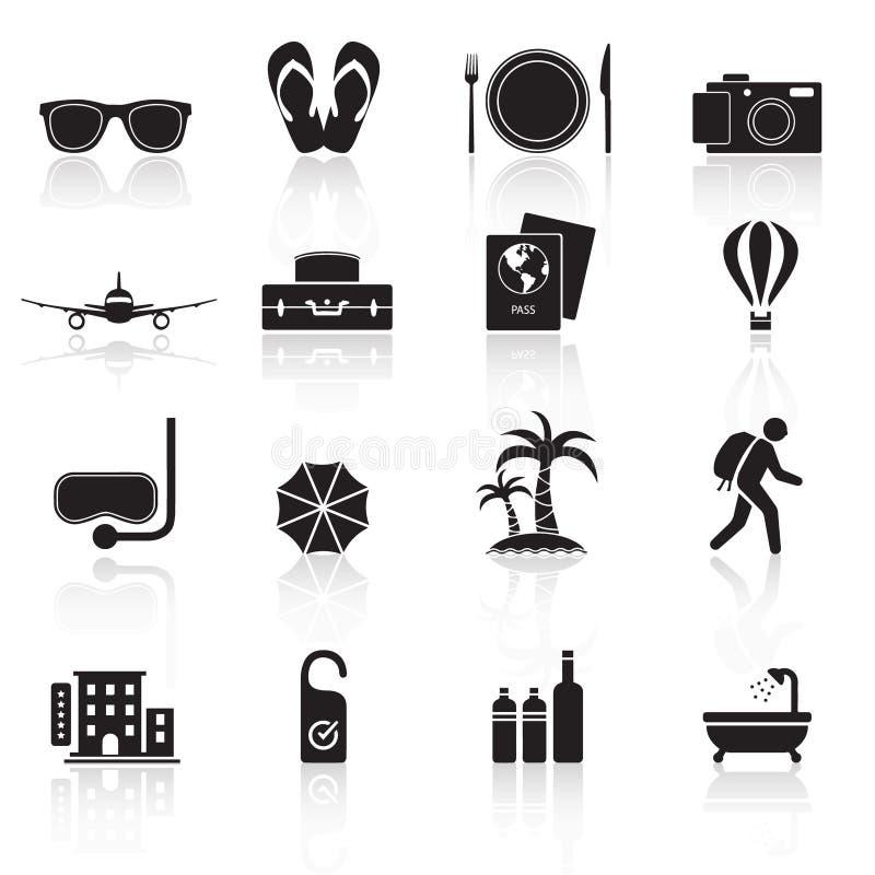Ícones set01 do curso foto de stock royalty free