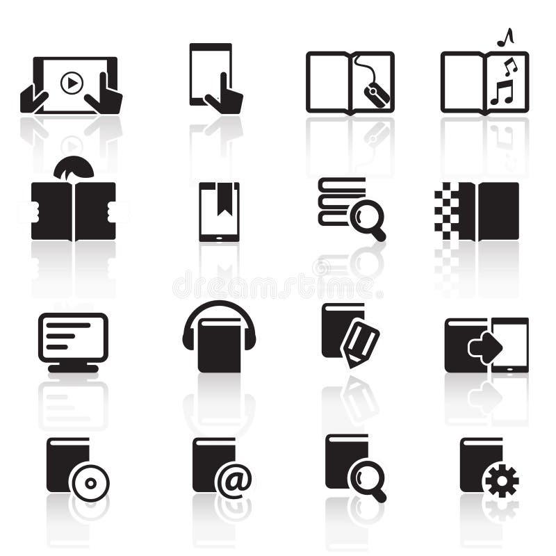 Ícones set01 do livro de Digitas fotos de stock