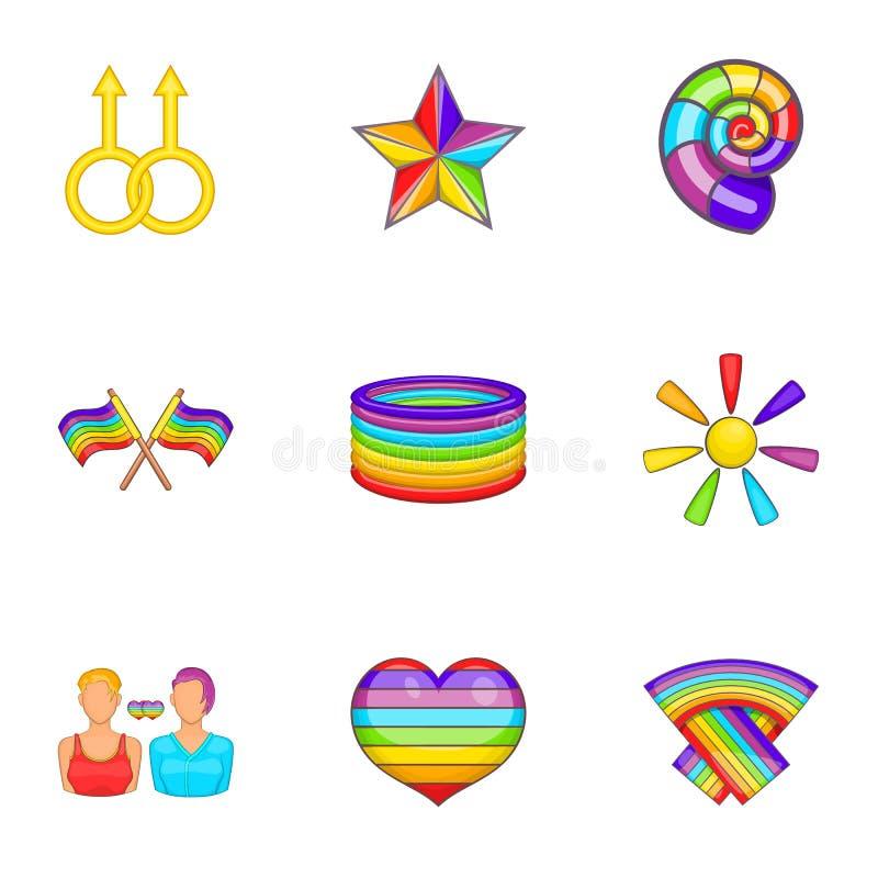 Download Ícones Sexuais Ajustados, Estilo Das Minorias Dos Desenhos Animados Ilustração do Vetor - Ilustração de ilustração, homosexual: 80100707