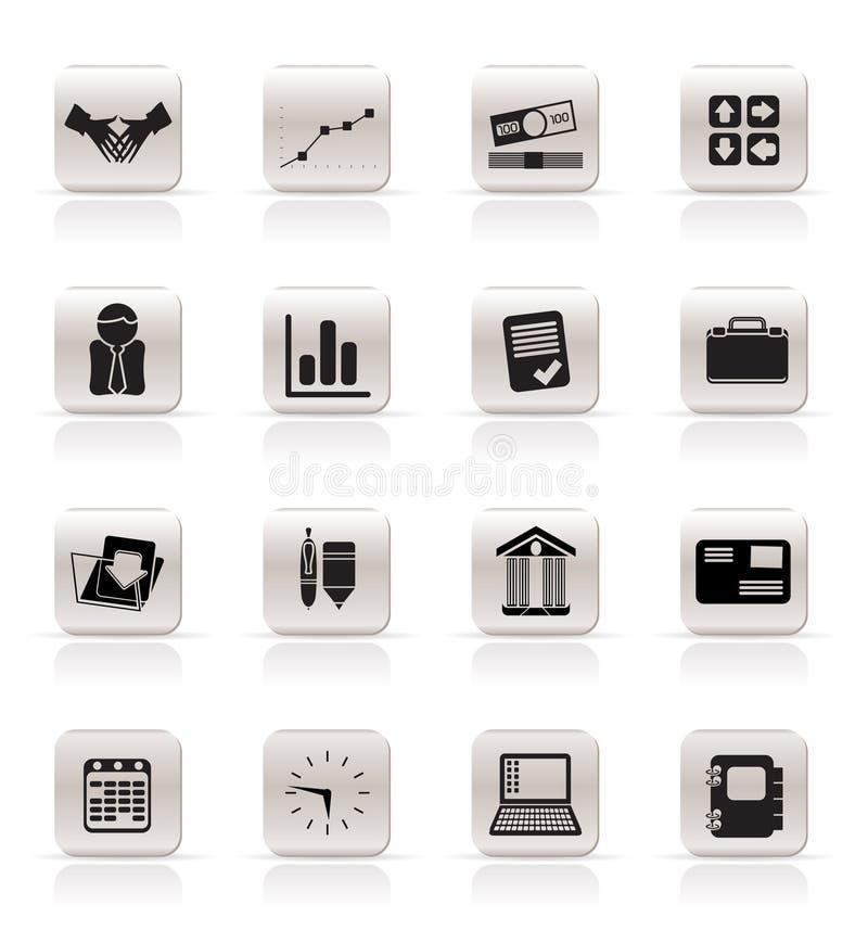 Ícones simples do negócio e do escritório ilustração stock