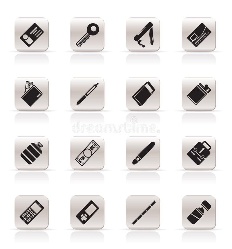Ícones simples do objeto do vetor ilustração stock