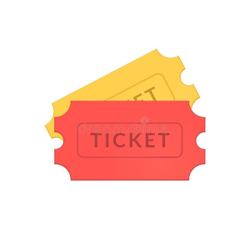 Ícones simples dos bilhetes ilustração stock