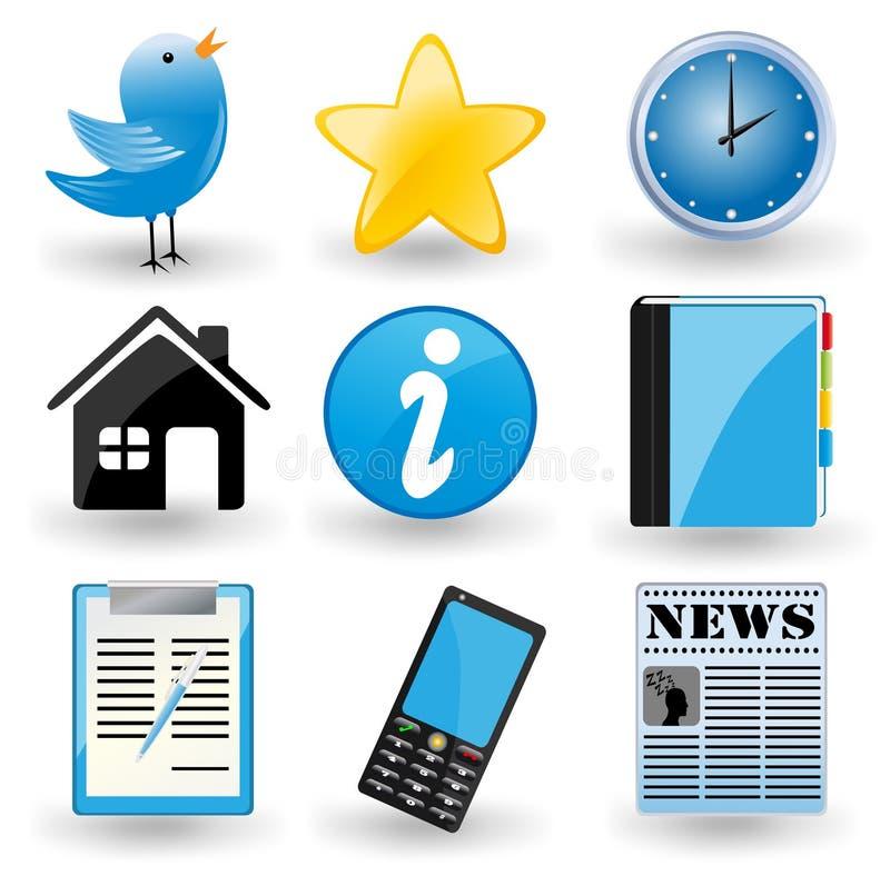 Ícones sociais dos media ilustração royalty free