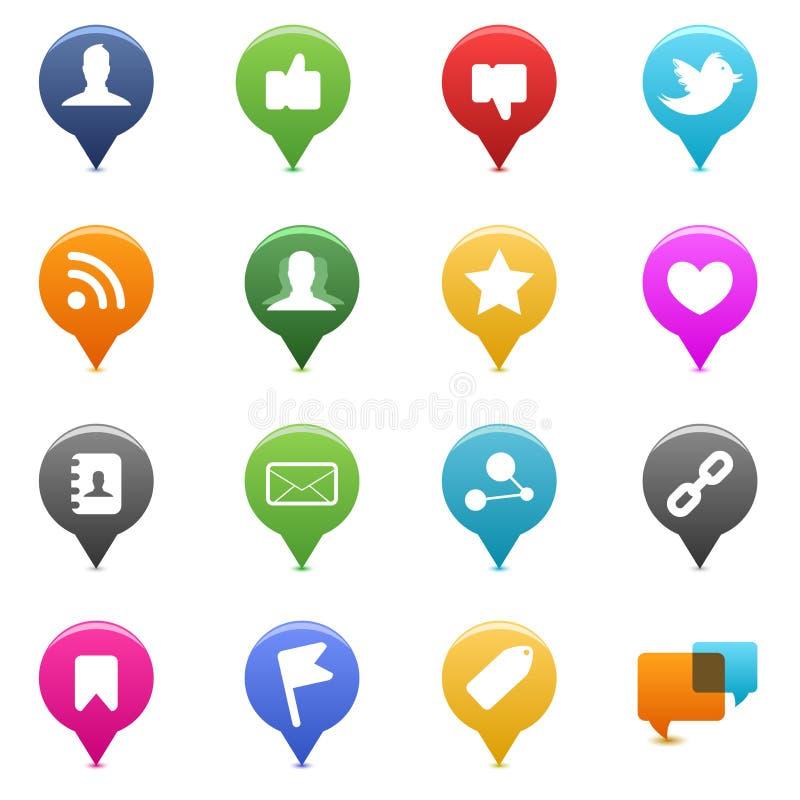 Ícones sociais dos media ilustração do vetor