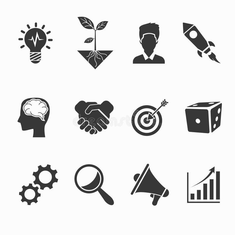 Ícones Startup e criativos ilustração royalty free