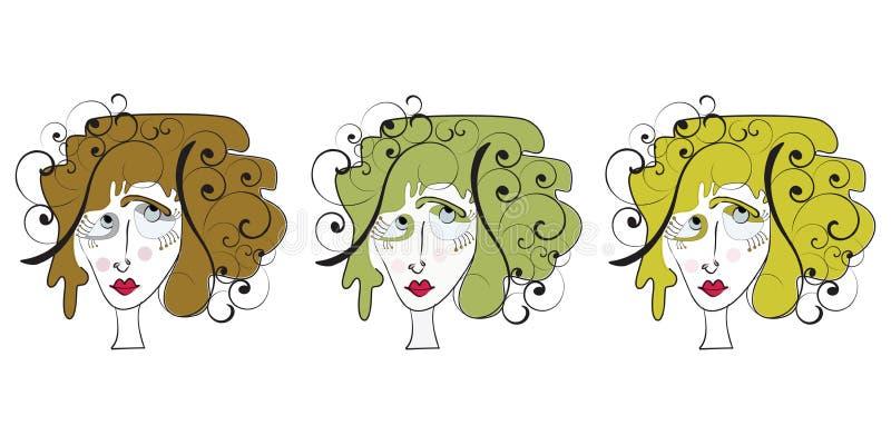 Ícones subtis da beleza ilustração royalty free
