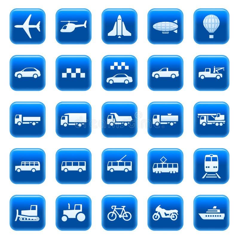 Ícones/teclas do transporte ilustração royalty free