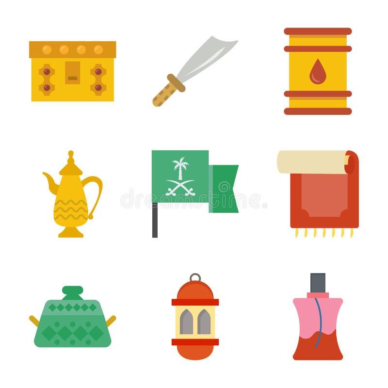 Ícones tradicionais velhos da herança ajustados ilustração stock