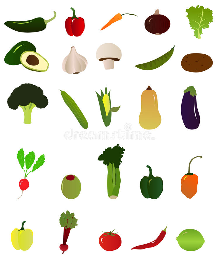 Ícones vegetais imagem de stock royalty free
