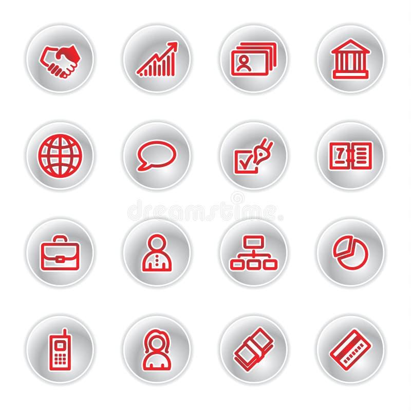 Ícones vermelhos do negócio ilustração do vetor