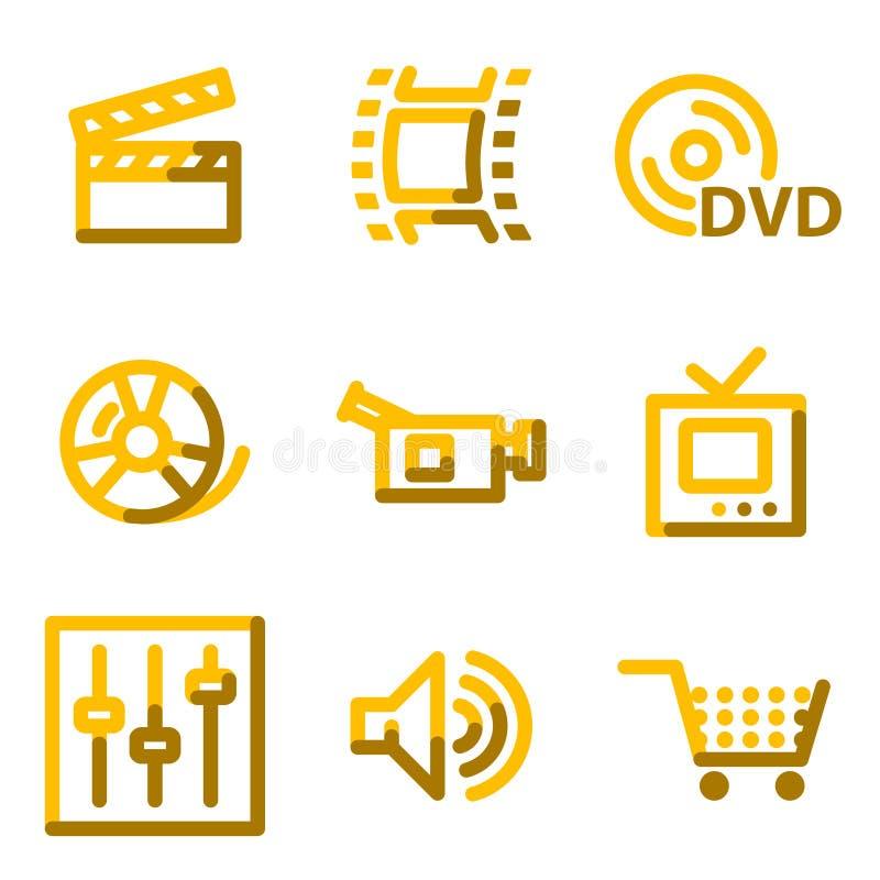 Ícones video ilustração stock