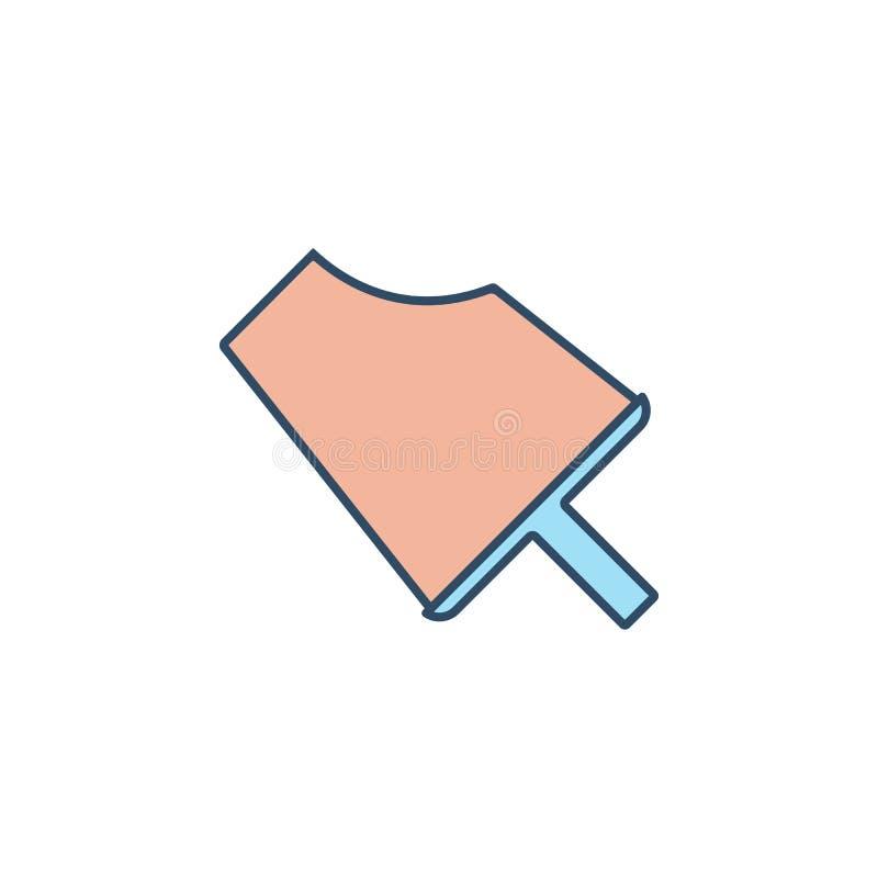 ícono de estilo colorado de helado mordido Elemento de icono de helado para concepto móvil y aplicaciones web helado mordido al e ilustración del vector