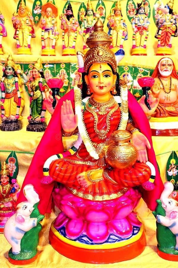 Ídolo de la diosa Lakshmi imagen de archivo libre de regalías