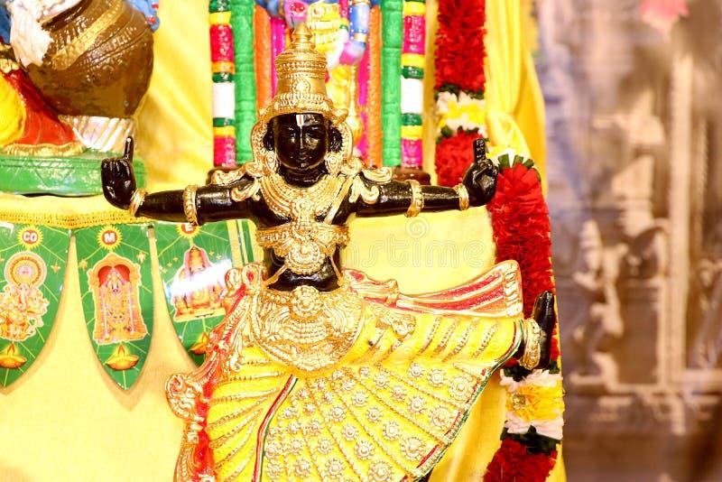 Ídolo del dios hindú Perumal fotos de archivo libres de regalías