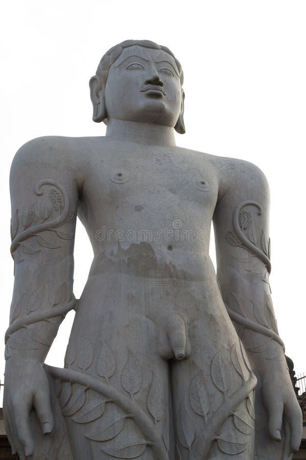 Ídolo Shravanabelagola, Karnataka, la India de Bhagawan Bahubali fotografía de archivo