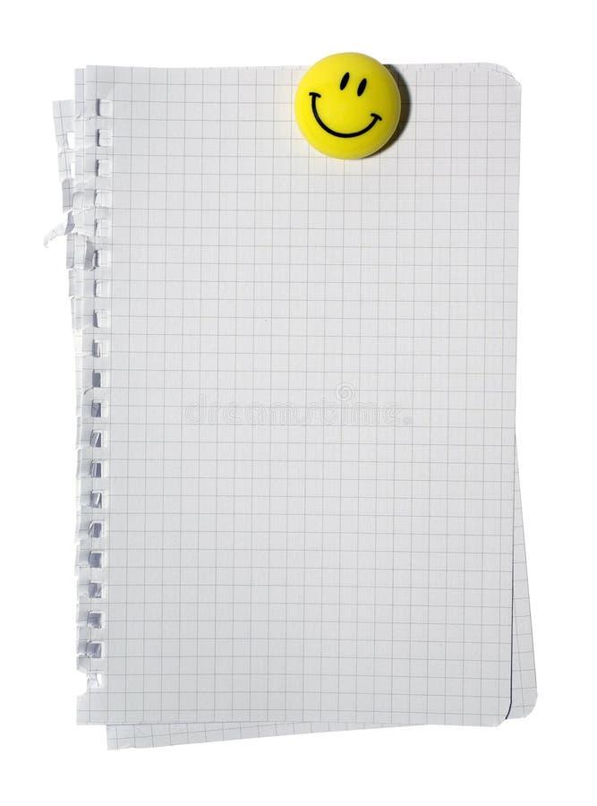 Ímã e pilha de sorriso de papel de nota. imagem de stock royalty free