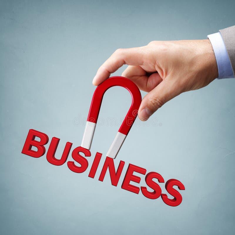Ímã que atrai clientes e clientes novos do negócio fotografia de stock royalty free