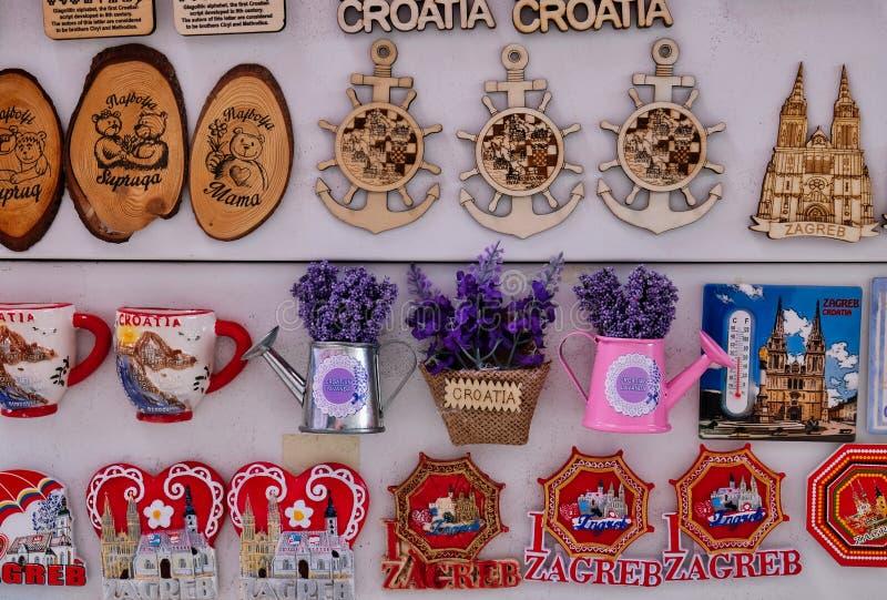 Ímãs croatas do refrigerador da lembrança fotografia de stock royalty free