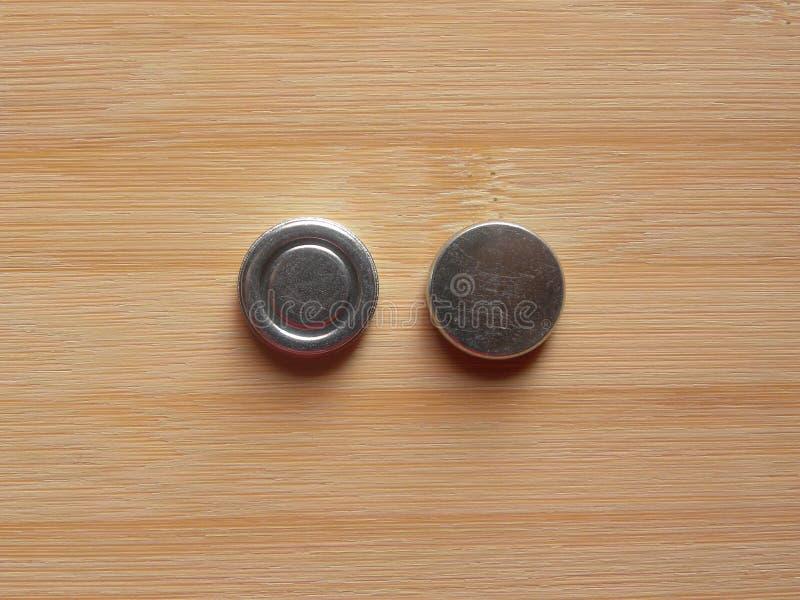 2 ímãs internos do fones de ouvido fotografia de stock