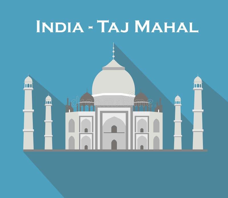 Índia Agra, curso, marco Arquitetura mahal da cultura de Taj Patrim?nio mundial do Unesco Mausoléu - palácio do marfim ilustração do vetor
