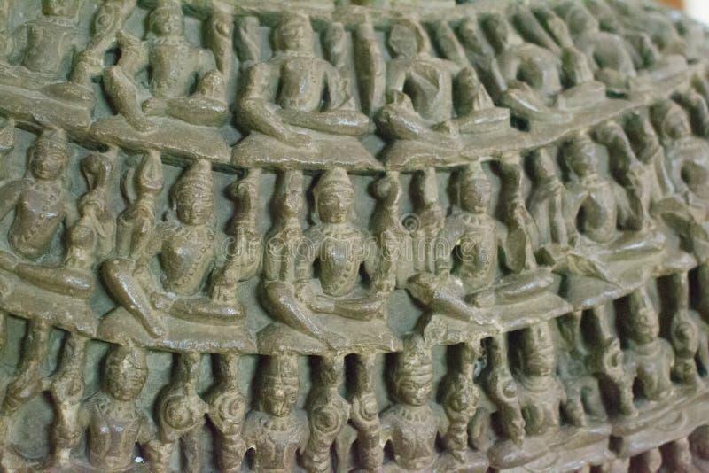 Índia cinzelada de pedra das esculturas fotografia de stock royalty free