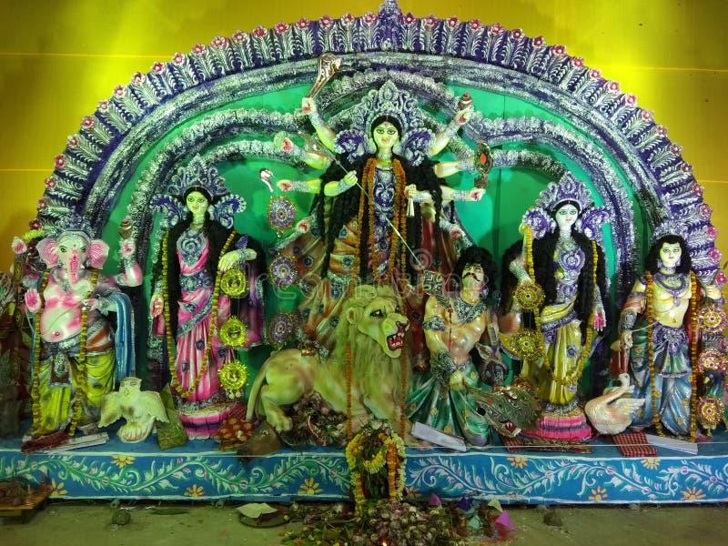 Índia de Durga Pandal Dakshin Barasat South 24 Parganas Bengal fotos de stock royalty free