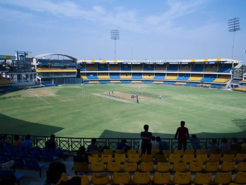 Índia de Indore do estádio do grilo de Holkar imagens de stock royalty free